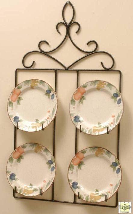 wrought iron square plate hanger     plates plate racks  hangers