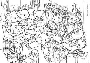 Sylvanian Family Coloring Pages