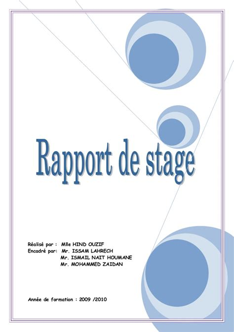 rapport de stage cuisine collective exemple de page de garde studio design gallery