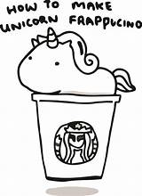 Starbucks Coloring Unicorn Pages Printable Coffee Kawaii Drawing Frappucino Template Mar sketch template