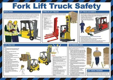 Fork Lift Truck Safety Poster From Safety Sign Supplies