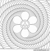 Coloring Spiral Flower Power Peace Printable Patterns Adult Adults Colouring Mandala Spirals Optical Illusion Illusions Mandalas Transparent Version Paste Eat sketch template