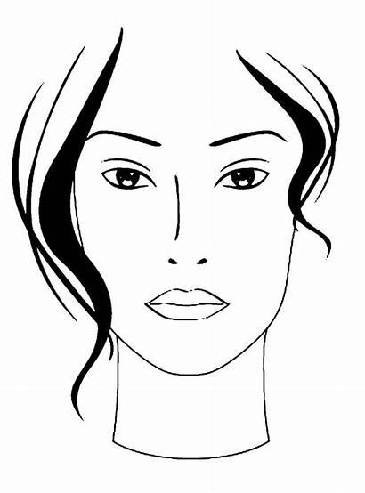 Makeup Face Chart Charts Paper Drawing Watercolor