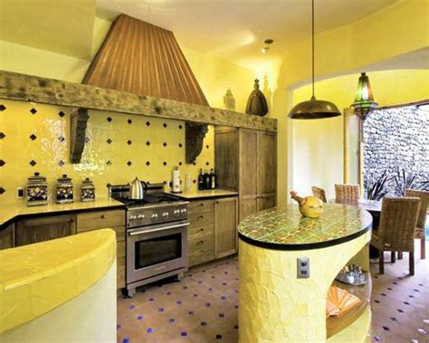 black and yellow color schemes for modern kitchen decor