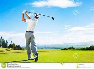 Man Playing Golf stock photo. Image of player, exercise ...