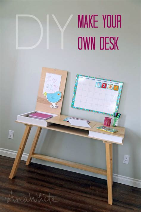 how to make your own desk easy diy drawers and desks on pinterest