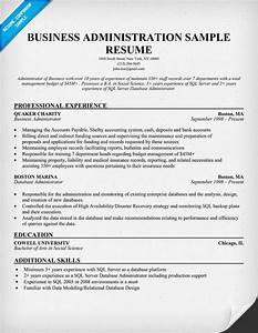 Business administration resume samples sample resumes for Business administration resume template
