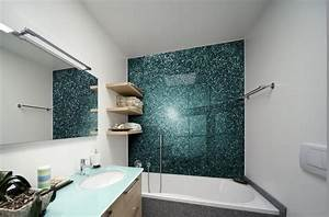 Wandgestaltung Bad Ohne Fliesen : glas statt fliesen im bad pflegeleicht und dekorativ ~ Sanjose-hotels-ca.com Haus und Dekorationen