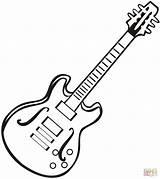 Guitar Coloring Electric Printable sketch template