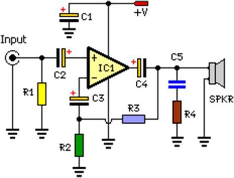 Simple Watt Audio Power Amplifier Schematic Electronic