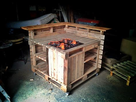 kitchen island made from pallets pallet kitchen island pallet furniture 8198