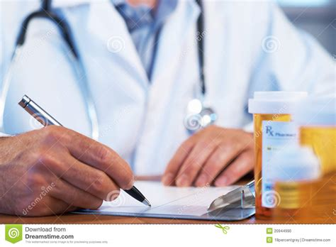 prescription doctor writing rx medical patient drug 3d history illustration