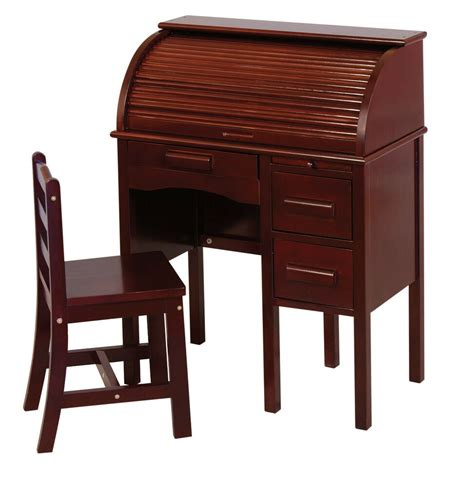 Guidecraft Desk by Guidecraft G97302 Jr Roll Top Desk In Brown