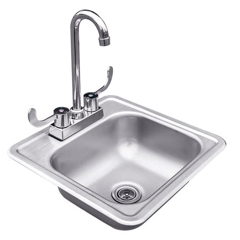 stainless steel drop  sink  faucet sunfire grills