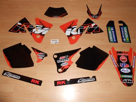kit deco 125 sx 2006 kit d 233 co complet ktm exc mxc 2001 224 2002 rd2shop fr