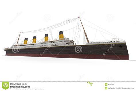 titanic side view stock illustration illustration