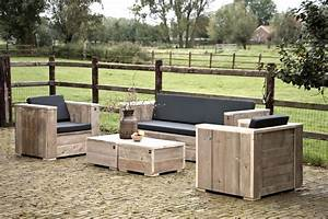 Lounge Gartenmöbel Holz : gartenm bel loungeset unbehandeltes ger stholz lounge garten holz bauholz neu ebay ~ Indierocktalk.com Haus und Dekorationen