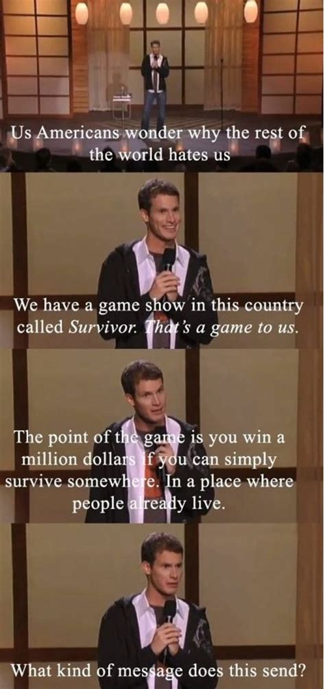 Tosh 0 Meme - comedian daniel tosh on surviver america s message to the world