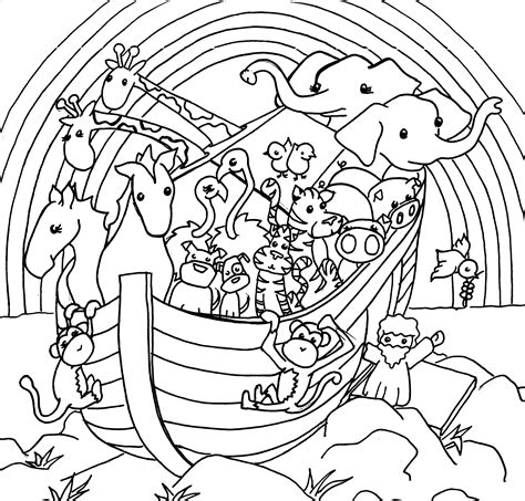 noahs ark coloring pages sketch coloring page