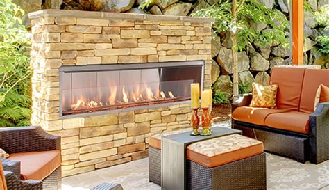 """Superior 60"""" Outdoor Linear Fireplace  Fine's Gas"""