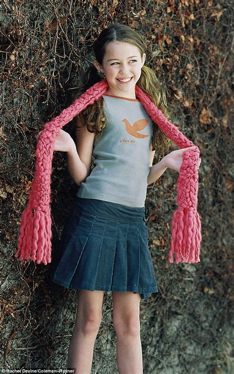 Miley Cyrus Modelling Shoot When She Was Yearold Girl Named Destiny Daily Mail Online