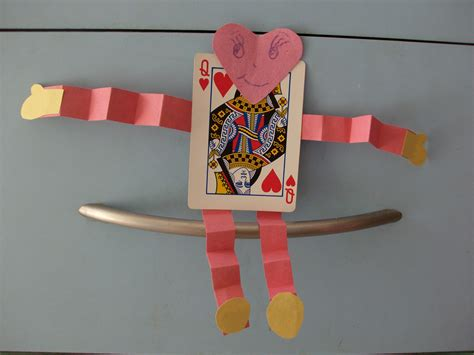 kids valentines day crafts deck  cards playing card
