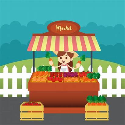 Market Illustration Traditional Vector Clipart Premium