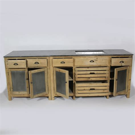 meuble bois cuisine meuble de cuisine dessus zinc meubles