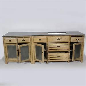 Trendy gallery of charmant meuble cuisine en pin pas cher for Meuble cuisine bois et zinc
