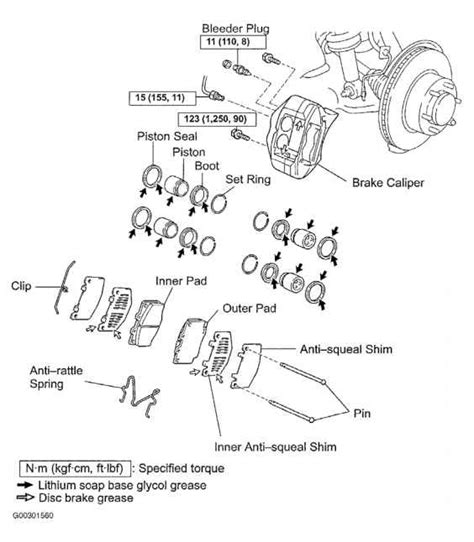 Brake Caliper Components by When Overhauling Caliper If Piston Bores Are Pitted Or
