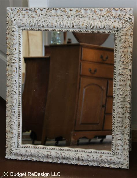 how to paint a mirror frame shabby chic previously gold mirror turned shabby chic with annie sloan s old white chalk paint great