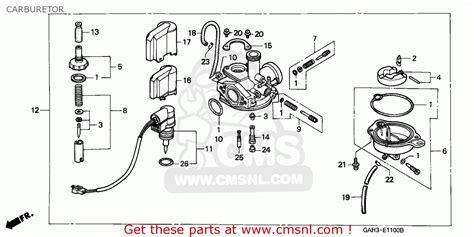honda sk50m dio 1994 canada carburetor schematic partsfiche
