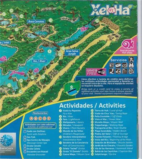 map  park picture  xel ha riviera maya tripadvisor