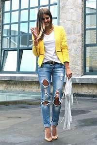 Zara neon yellow tweed zip blazer xs 6 8 zipper waist cropped jacket coat new | Pump Blazers ...