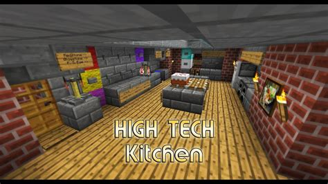 high tech kitchen house small  easy minecraft youtube