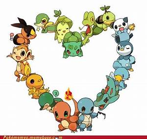 Pokemon Starters Gen 1 5 Heart Nerdy Geekness Pinterest