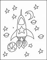 Space Coloring Rocket Printable Disegni Colouring Sheets Outer Colorare Preschool Trasporti Solar System Rockets Saturn Adult Pre Spaziali Navicelle Disegno sketch template