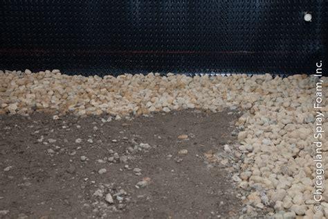 crawl space encapsulation concrete drain tile