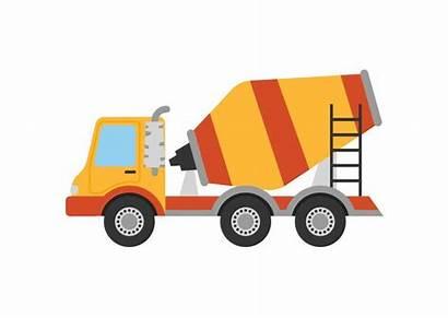 Mixer Truck Concrete Vector Flat Cement Superawesomevectors