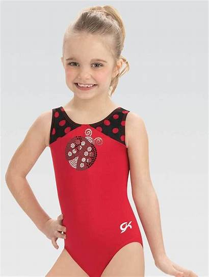 Leotard Gk Dot Gkids Polka Gymnastics Ladybug