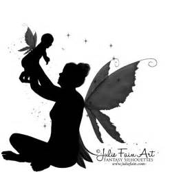 Baby Fairy Silhouette Tattoo