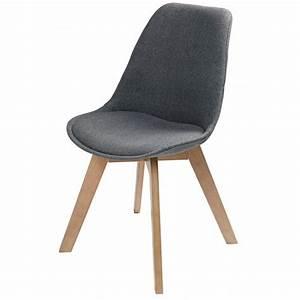 Stühle Mit Stoffbezug : stuhl mit grau meliertem stoffbezug ice maisons du monde ~ Eleganceandgraceweddings.com Haus und Dekorationen