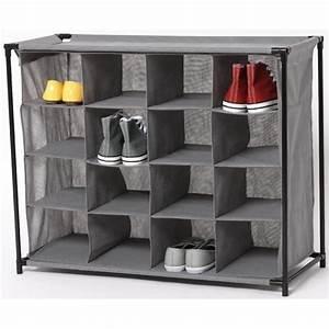 Range Chaussures Gifi : range chaussures 16 paires gris meuble chaussures bureau et entr e meuble gifi ~ Teatrodelosmanantiales.com Idées de Décoration