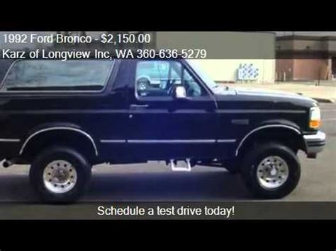 Ford Bronco Lift Kit by 1992 Ford Bronco Xlt Pkg Rancho Lift Kit 4x4 For Sale In