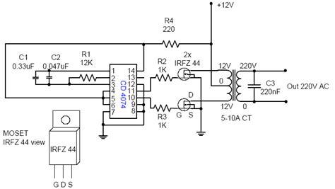 dc ac voltage inverter 12v for 110 220v circuit diagram electronic circuits diagram
