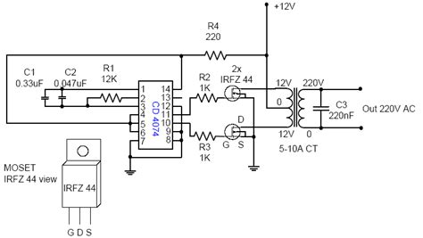 Voltage Inverter For Circuit