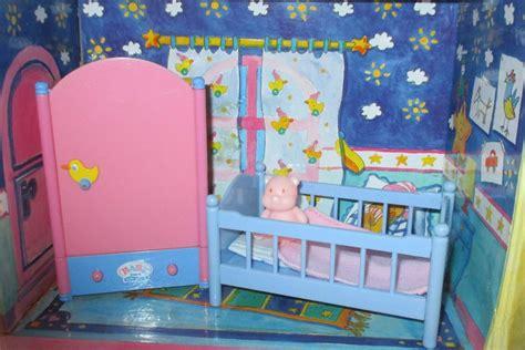 Baby Born Mini Schlafzimmer Bett Schrank Bettzeug Teddybär