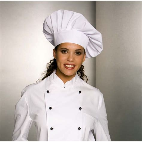 pantalon de cuisine femme toque chef cuisinier fermeture facile par velcro taille