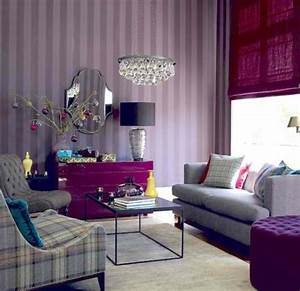 20 purple living rooms decoholic for Living room purple
