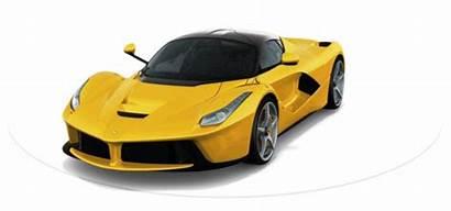 Yellow Ferrari Animated Laferrari Enzo Turntable Hypercar